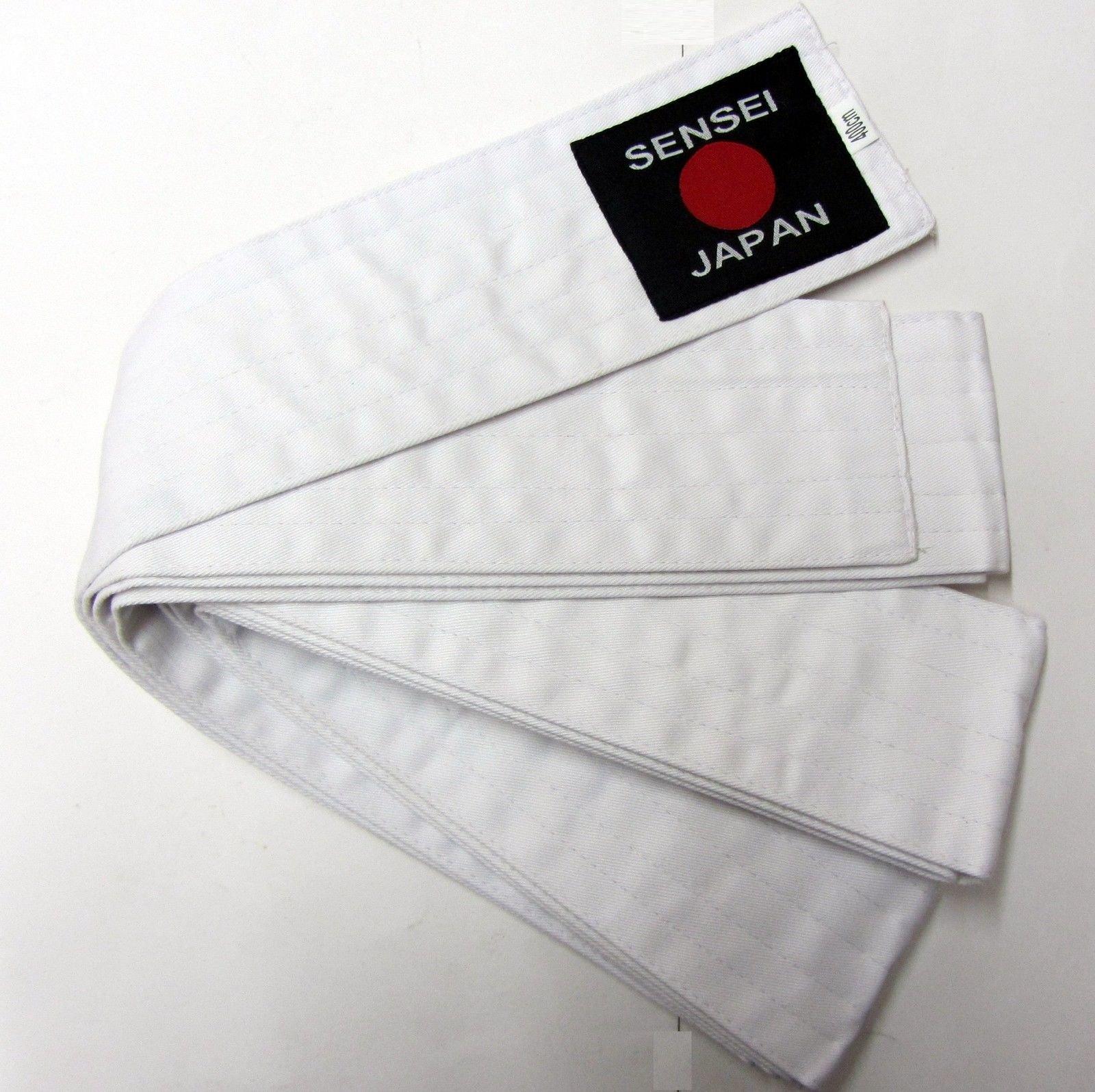 Obi Laido KENDO,AIKIDO Belt WHITE Sensei - 400x8cm Soft Obi 6 Row Stitching Easy Tie