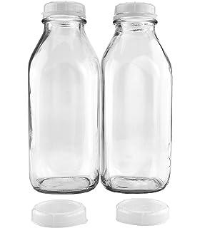 Amazon Com The Dairy Shoppe Glass Milk Bottle 2 Quart 64 Oz Clear