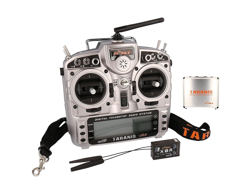 FrSky Taranis X9D Plus + Empfänger X8R + Alu Case