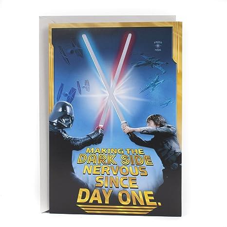 Star Wars Birthday Card.Hallmark Star Wars Birthday Card Happy Birthday Young Jedi