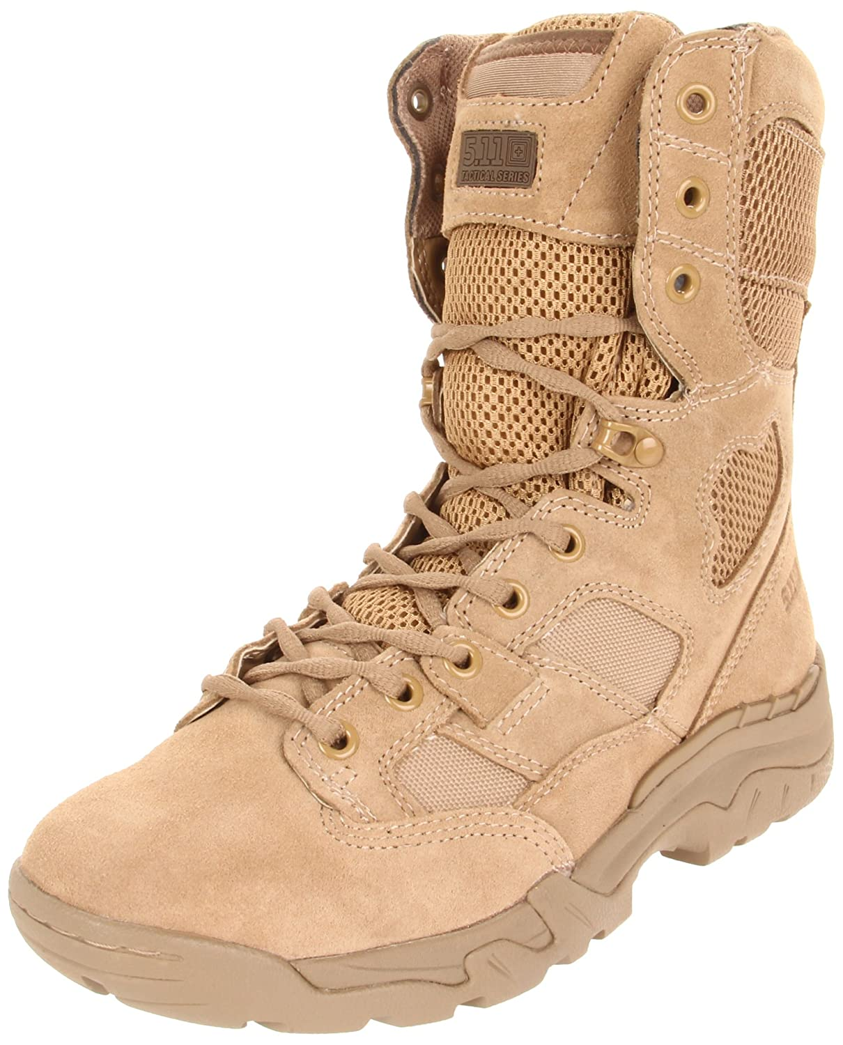 5.11 Men's Taclite 8In avvio-U, Coyote Suede, 4 D(M) US