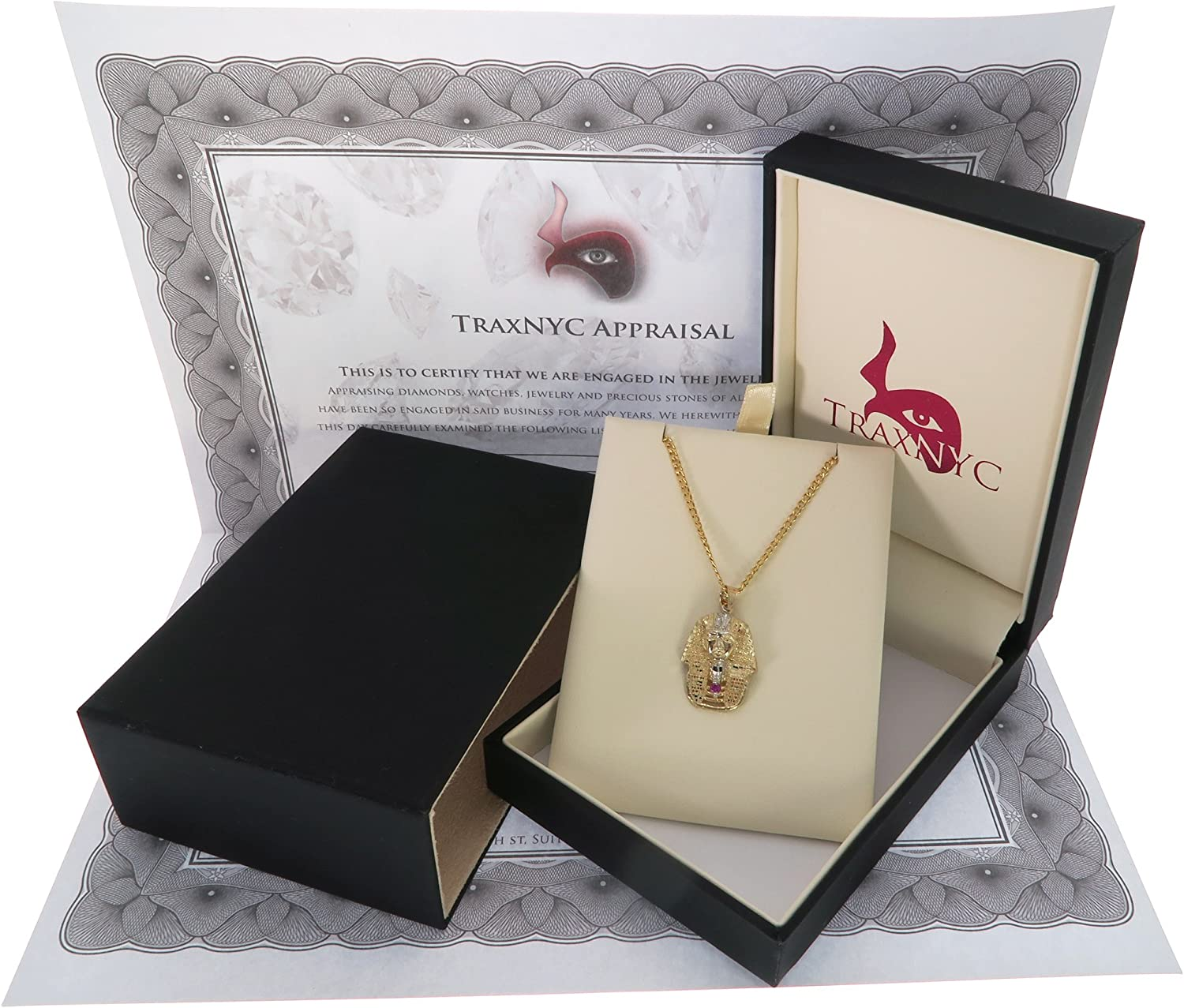 Assorted Sets Traxnyc Genuine Stamped 10K Yellow Gold Cuban Curb Link Chain Small Charm Pendant Necklace