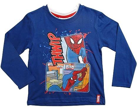 Langarm Shirt Kinder Junge Spiderman Marvel Pullover 98 104 110 116 122 128