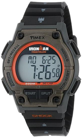Timex T5K341 - Reloj digital de cuarzo unisex, correa de plástico color negro (alarma