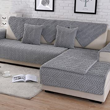 Pleasing Hmdx Plush Sofa Slipcover Thick Quilted Anti Slip Stain Resistant Multi Size Sofa Cover Protector For Pets Dog Sectional Couch Cover Grey Gmtry Best Dining Table And Chair Ideas Images Gmtryco