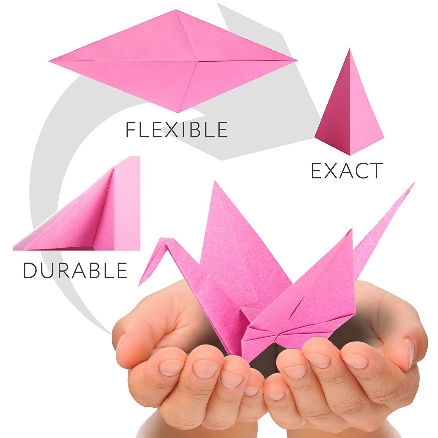 Classic Origami Paper 750 Sheets Economy Pack In 3d Small Swan Assembly Diagram For Beginner Tutorial Protective Tray Square 6 Inch 25 Vivid Colors 70 Gsm Original Product