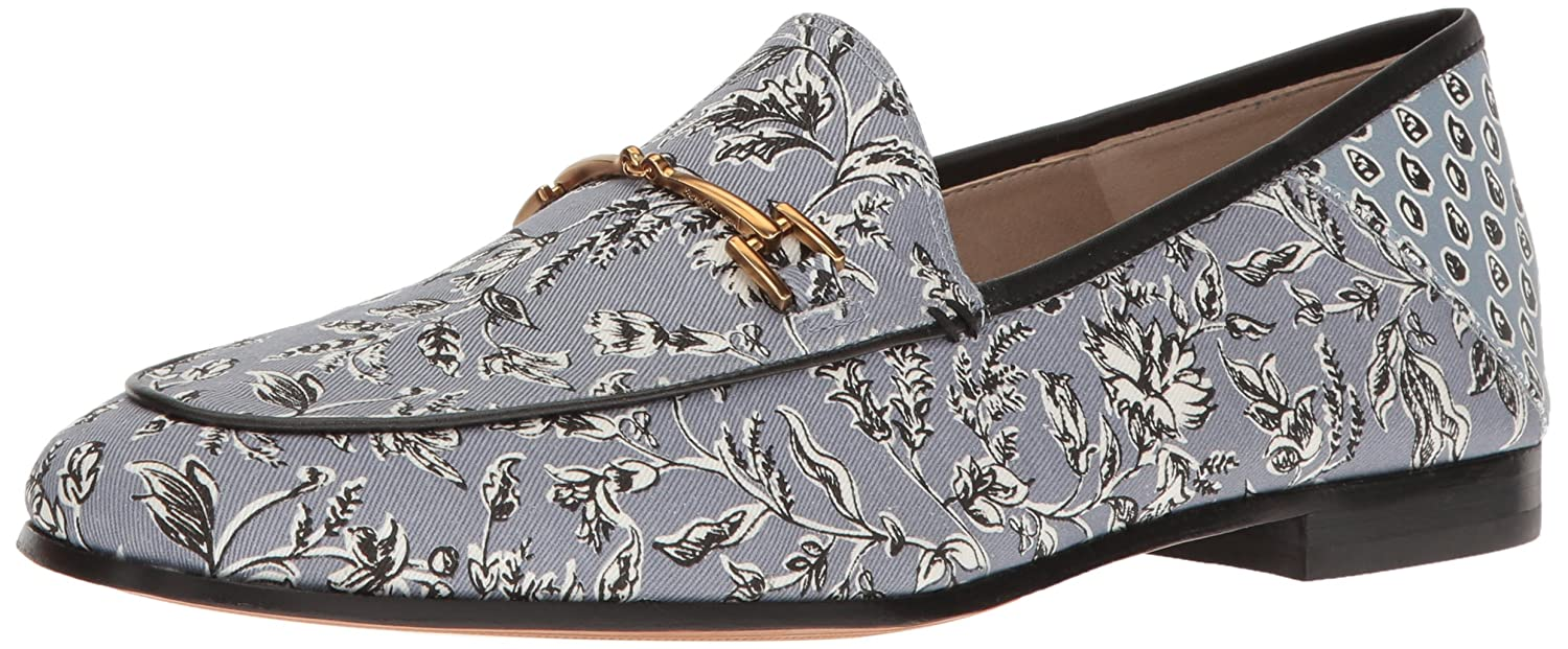 Dusty bluee Printed Fabric Sam Edelman Women's Loriane Loafer Flats