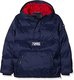 5e52ed22381f91 Tommy Hilfiger Boy's Essential Reversible Hooded Jacket: Amazon.co ...