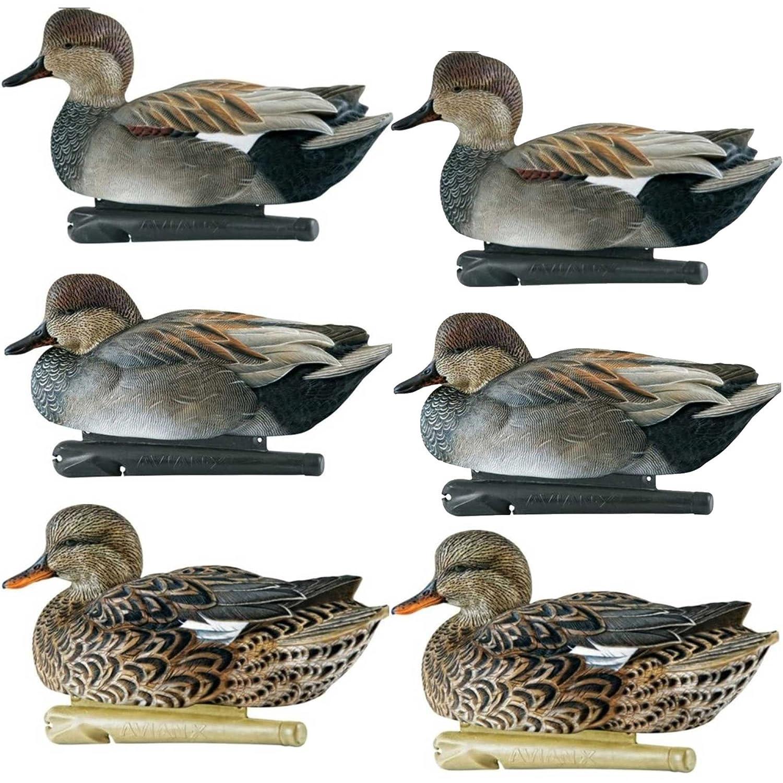 Avian-X 8085 Topflight Gadwall Duck Decoys, 6 Pack Avian X