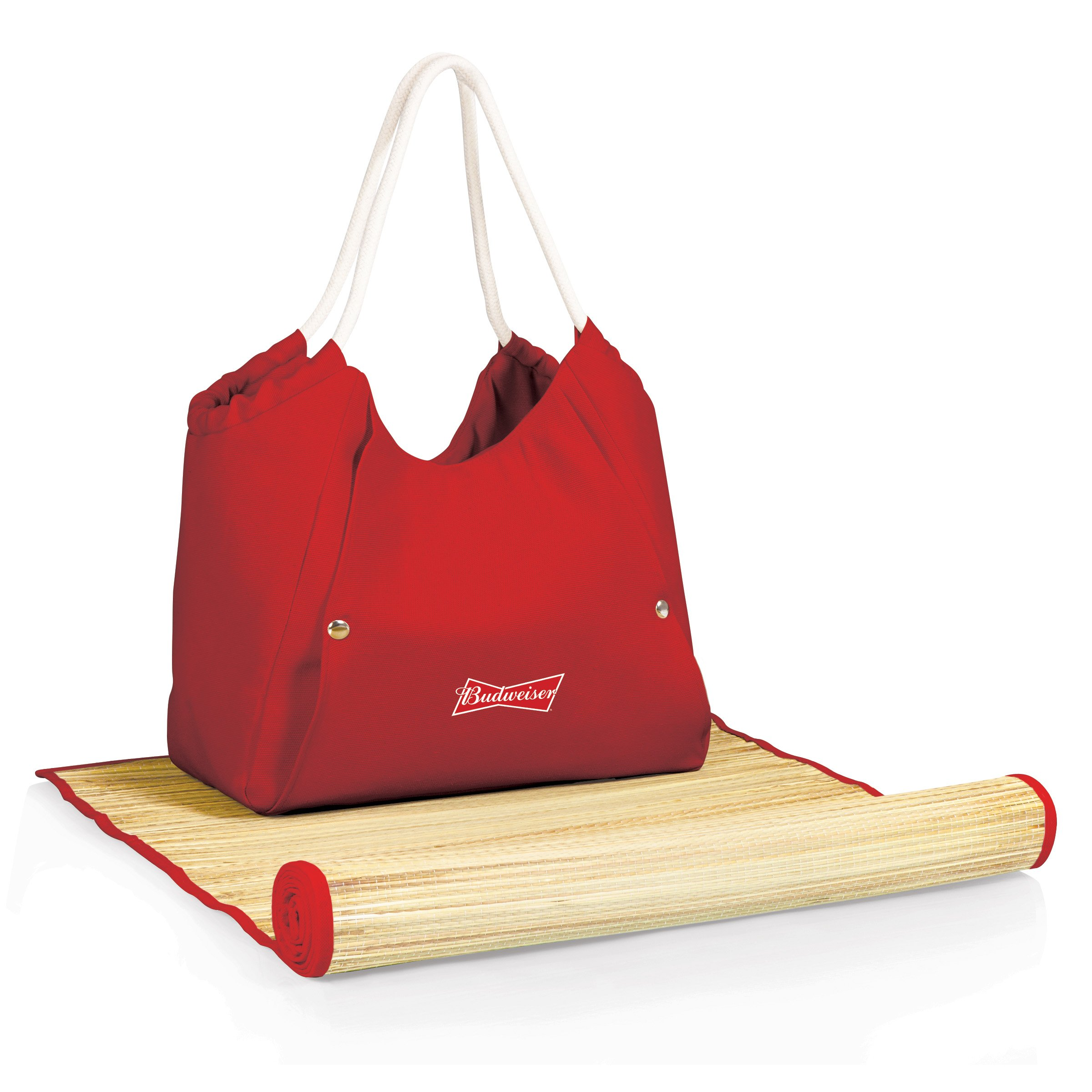 Picnic Time Budweiser Cabo Beach Tote with Mat
