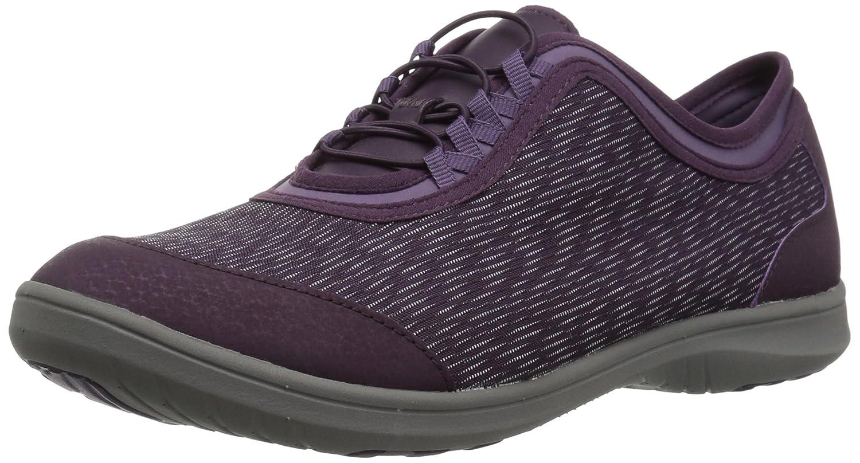 CLARKS Women's Dowling Pearl Walking Shoe B06WVF2BK3 6 W US|Aubergine Synthetic