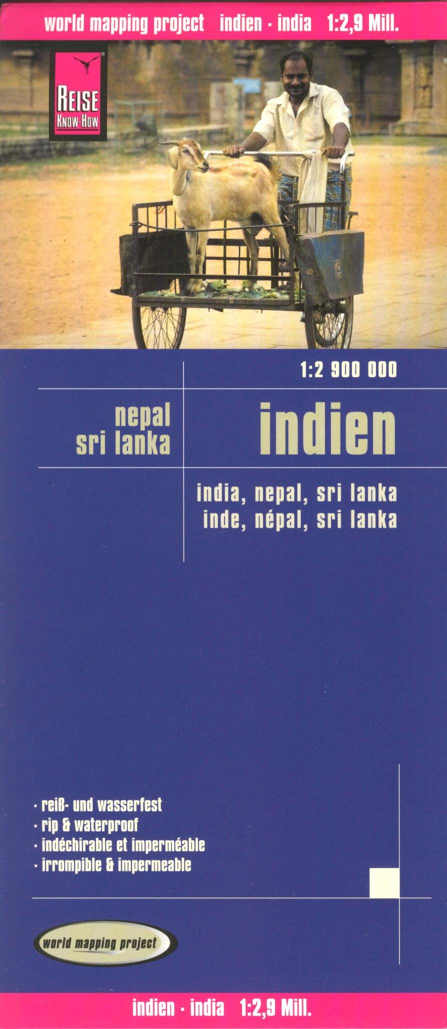 Download India 1:2,900,000 Travel Map, waterproof, GPS-compatible, REISE, 2012 edition pdf