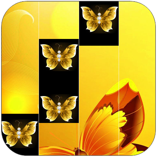 Golden Butterfly Piano Tiles -