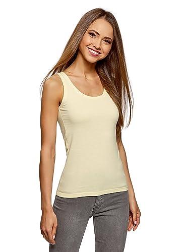 oodji Ultra Mujer Camiseta de Tirantes Básica