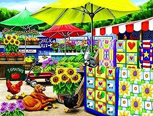 SUNSOUT INC Farm Stand 300 pc Jigsaw Puzzle