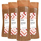 Amazon Brand - Solimo Exfoliating Body Wash, 18 Fluid Ounce (Pack of 4)