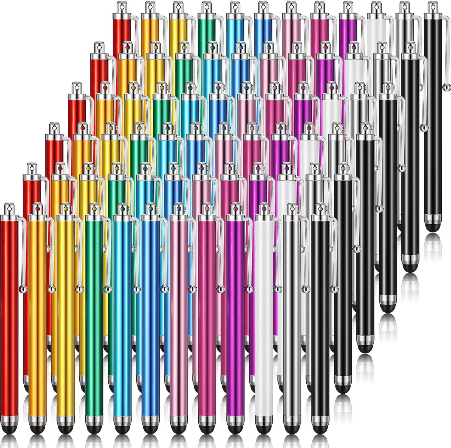 Stylus Pen Set of 72 for Universal Touch Screens Devices Capacitive Stylus Compatible with iPhone, iPad, Tablet (12 Colors)