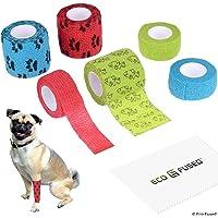 Zelfklevend verband - Verwondingstape voor honden - Pak van 6 - Ondersteunt spieren en gewrichten - Gemakkelijk aan te…