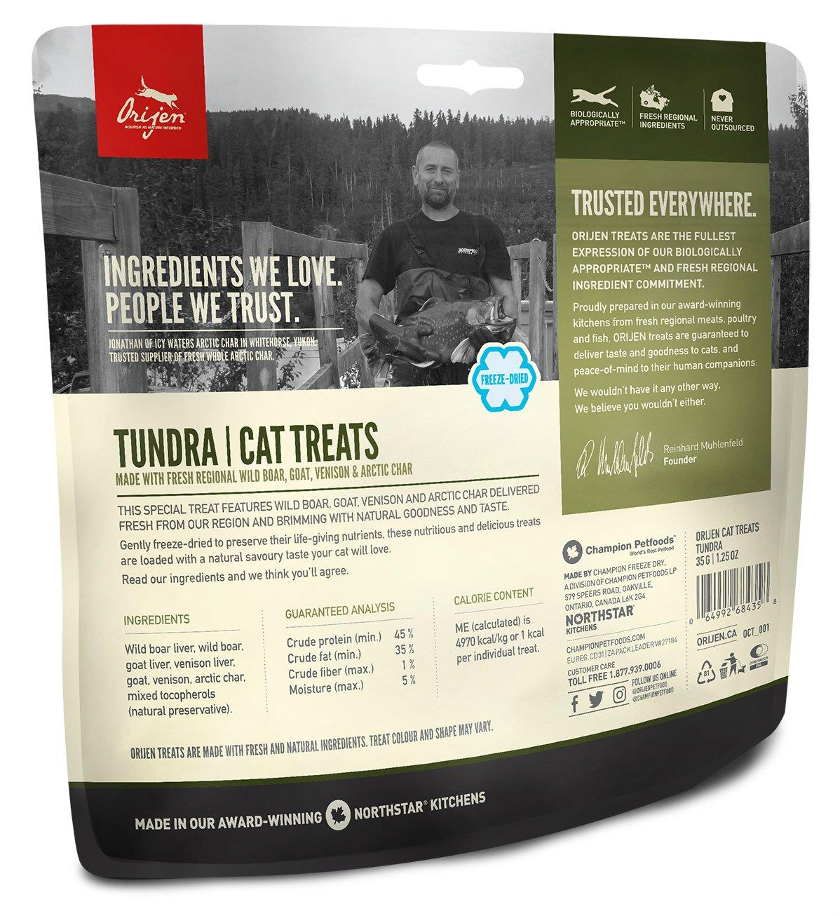 Origen - Orijen Tundra Gato Treats, Presentaciones - 35 Grs: Amazon.es: Productos para mascotas