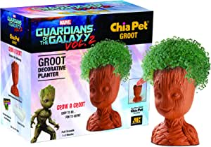 Chia Pet Groot with Seed Pack, Decorative Pottery Planter, Easy to Do and Fun to Grow, Novelty Gift, Perfect for Any Occasion