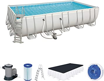 Bestway 56470 Power Steel Rectangular Pool 671 X 366 X 132 cm ...