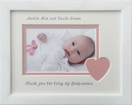 Thank you for being my Godparents Photo Frame, White, 9 x 7 ...