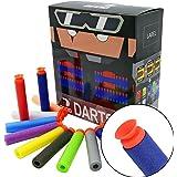 EKIND 100er Saugnapf Darts Nachfüllpack Für alle NERF N-Strike Elite Blaster (Zehn Farben)