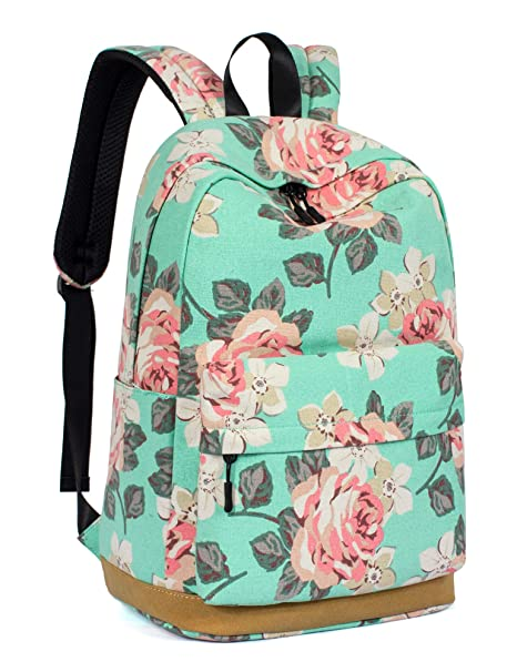 be3e6bd9d3be Leaper Cute Floral School Backpack Girls Daypack Bookbag Travel Bag Water  blue