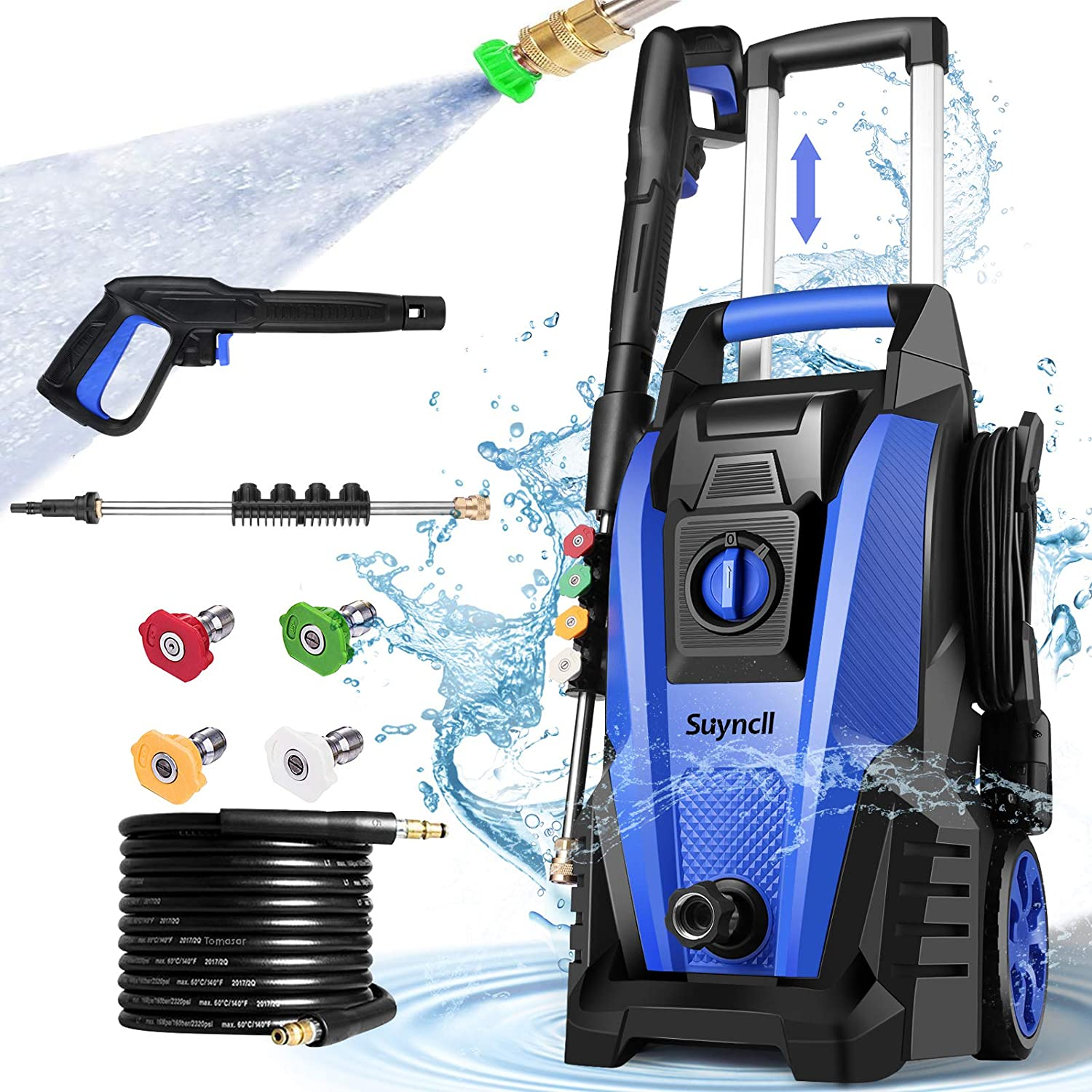 Suyncll Pressure Washer, 3800PSI Electric Power Washer