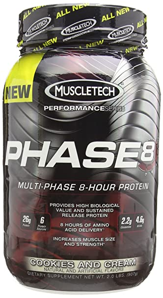 8ee477a8d Amazon.com  MuscleTech Phase 8 Protein Powder