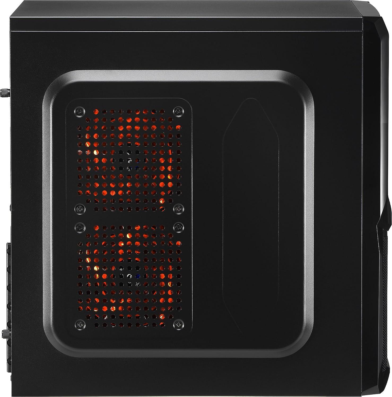 wei/ß Semi-Fackel, ATX, Acryl-Seitenwand, RGB-LED an der Vorderseite, 13 Lichtmodi, inklusive 12-cm-L/üfter an der R/ückseite, USB 3.0 PC-Geh/äuse Aerocool CYLON