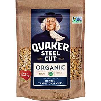 Quaker Organic Steel Cut Oatmeal, Breakfast Cereal, Non-GMO Project  Verified, 20 Ounce Resealable