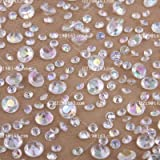5000 Diamond Scatter Crystals Wedding Table Decorations mixed sizes (AB/lridescent Two sizes)