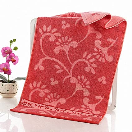 Lictory 1pcs 35x75cm White Flower jacquard Soft Face Towel Cotton Hair Hand Bathroom Towels badlaken toalla