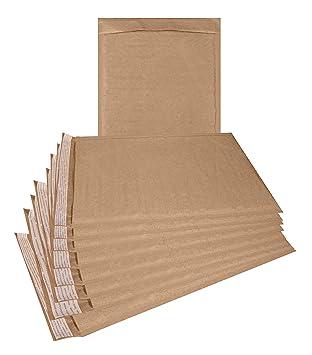 Amazon.com: Paquete de 25 sobres acolchados Kraft de 8,5 x ...