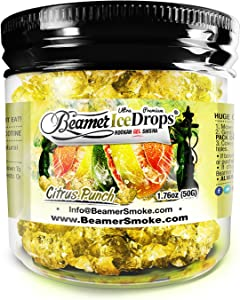 Citrus Punch 50G Ultra Premium Beamer Ice Drops ¨ Hookah Shisha Smoking Gel. Each bowl lasts 2-4 Hours! USA Made, Huge Clouds, Amazing Taste! Better Taste & Clouds than Tobacco! 2-3 bowls per Jar!