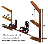 Timber Snowboard Wall Rack - Holds 3 Snowboards
