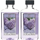 Aromatherapy Hosley Premium Grade 140ml Highly Scented Reed Diffuser Refill Oil- Set of 2 / 140ml (4.73 fl oz) Each - Made in USA.. BULK BUY (LILAC BLOSSOMS)