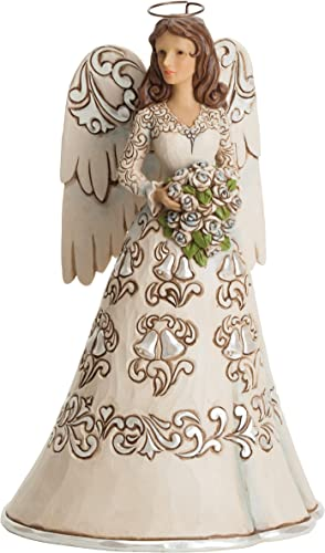 Jim Shore Heartwood Creek Wedding Day Angel Blessings on Your Wedding Day Figurine