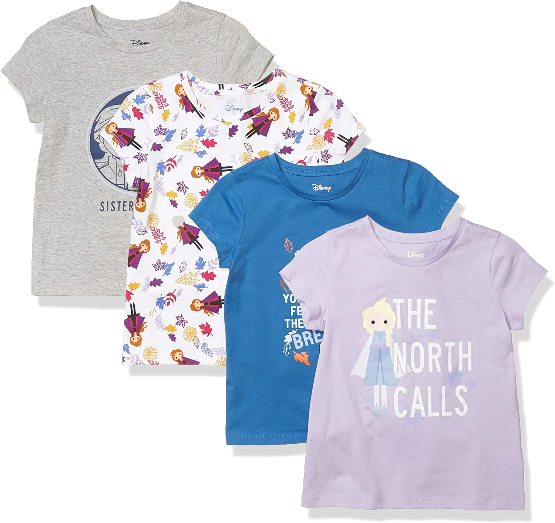 Brand Spotted Zebra Girls Disney Star Wars Marvel Frozen Princess Short-Sleeve T-Shirts
