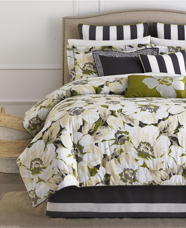 Martha Stewart Collection Sunshine Poppy 4 Piece Twin Comforter Set Bedding