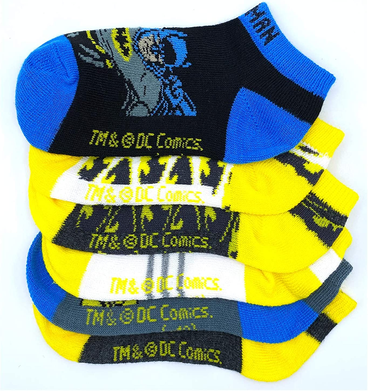 Fit 2T-4T Kids Toddler Boys Superheroes DC comics Batman Basic Ankle Cut Fashion Cozy Socks 6pairs