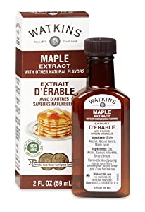 Watkins Maple Extract with Other Natural Flavors, 2 oz. Bottles, Pack of 6 (Packaging May Vary)