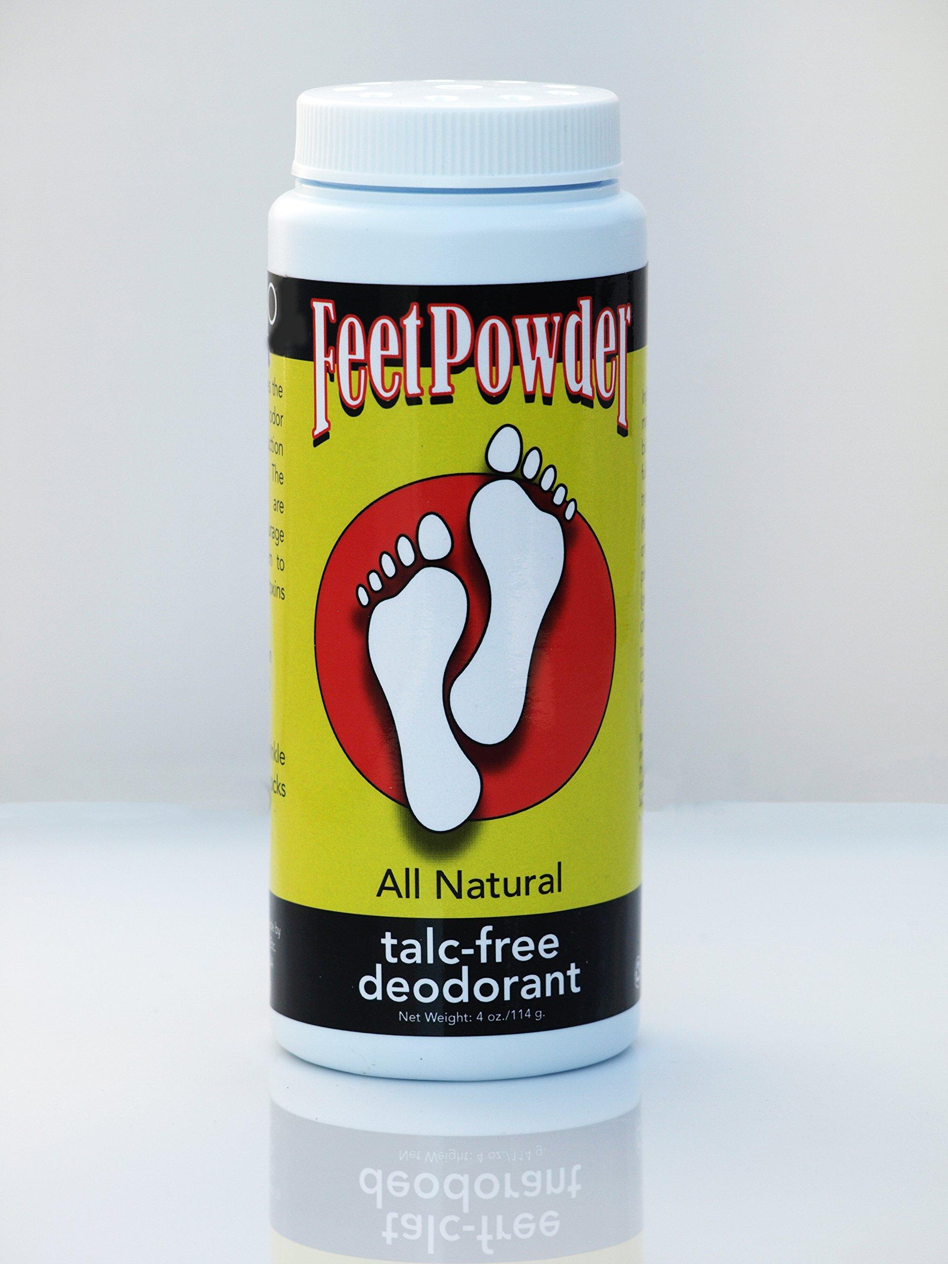 Feet Powder Foot and Shoe Deodorant 4 oz/114mg by Muddy H2O Etc.