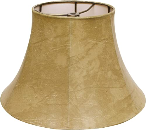 Cloth Wire Slant Transitional Bell Lampshade in Animal Hide 20 in. Dia. x 12 in. H 0.7 lbs.