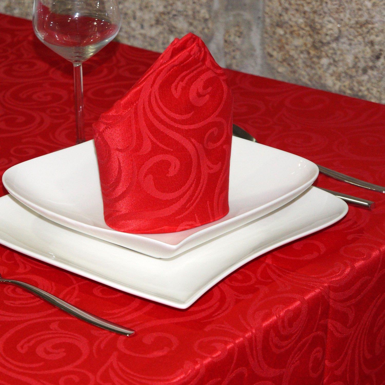 Luxus-Tischdecke, Luxus-Tischdecke, Luxus-Tischdecke, Rot, fleckenabweisend, Größe L Lyon, rot, 59 x 137  (150 x 350cm) B01BTYZ6AY Tischdecken 756ac8
