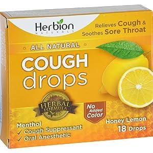 2Pack! Herbion Naturals Cough Drops - All Natural - Honey Lemon - 18 Drops