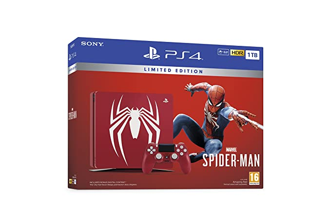 Limited Edition Amazing Red Marvels Spider-Man 1TB PS4 ...