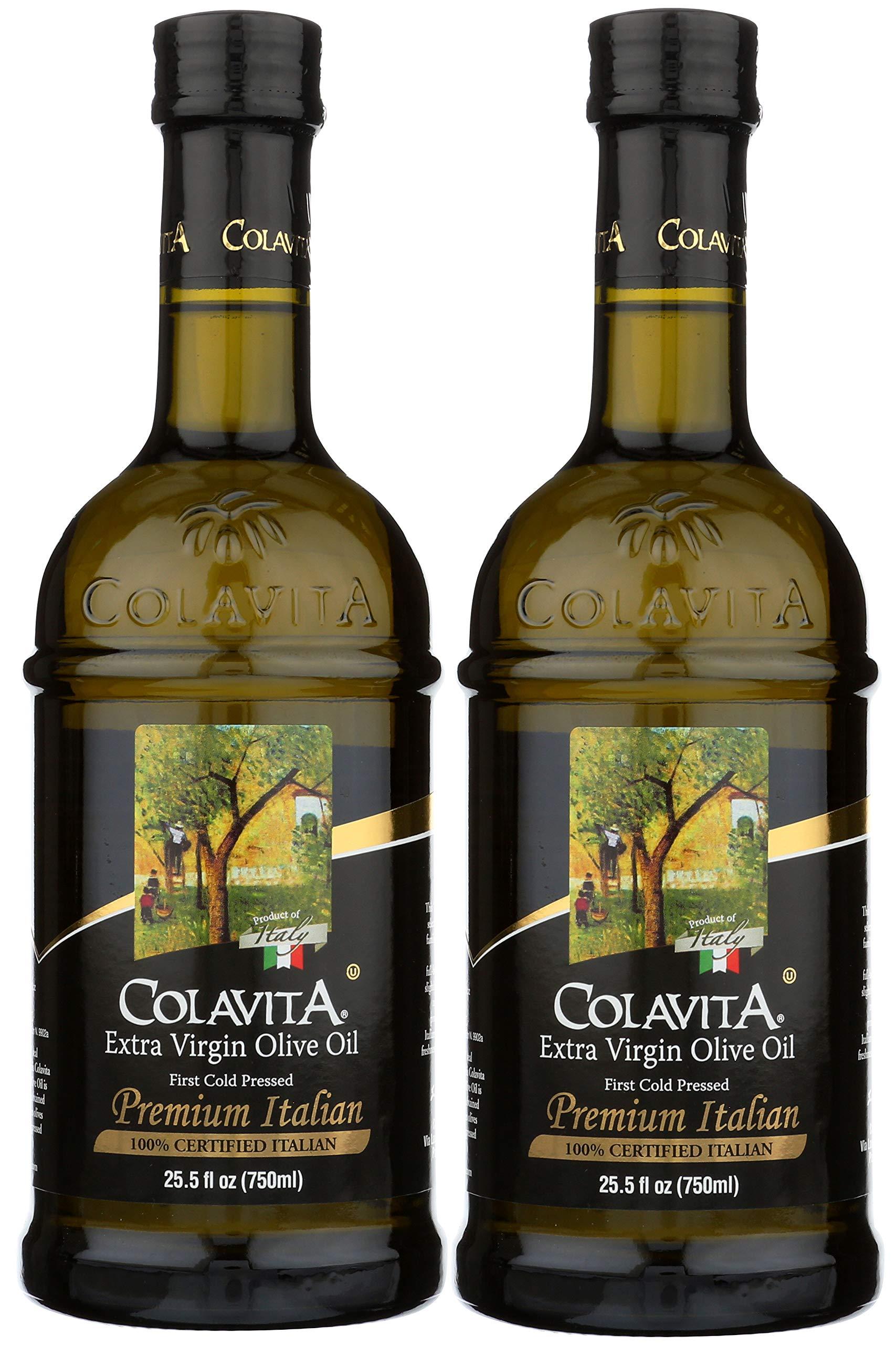 Colavita Premium Italian Extra Virgin Olive Oil, 25.5 Ounce (Pack of 2)