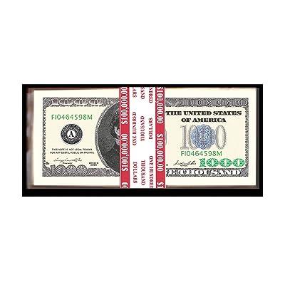 American Art Classics 100 Count Banded $1,000.00 Bills - $100,000.00: Toys & Games